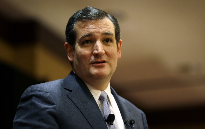 Sen. Ted Cruz (R-Texas) objects to a provision in the Senate Ukraine legislation that would expand the loan-making authority of the International Monetary Fund.
