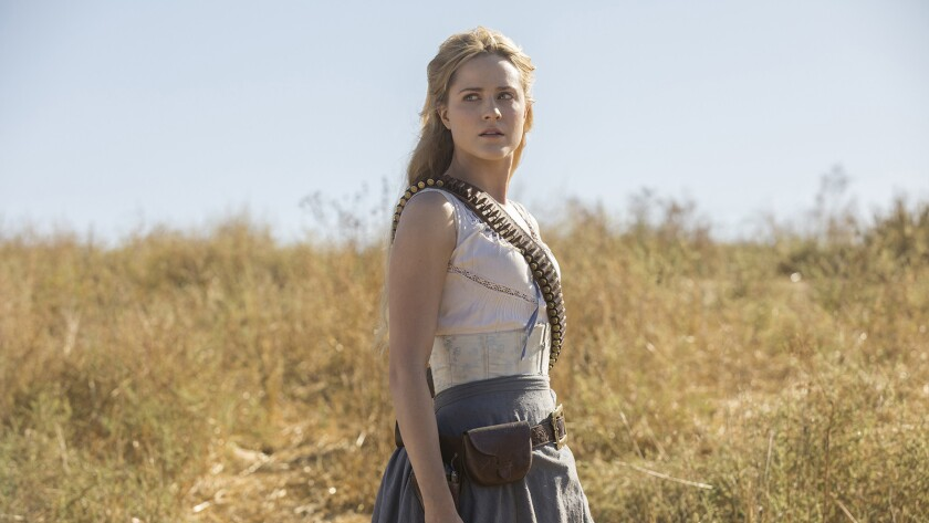 """Dolores (Evan Rachel Wood) is ready for battle in a second season of the sci-fi drama """"Westworld"""" on HBO."""