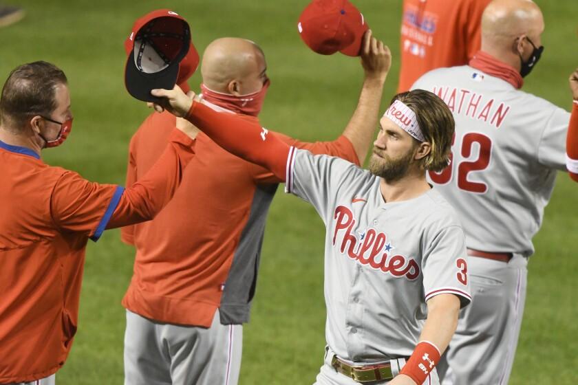 The Phillies' Bryce Harper