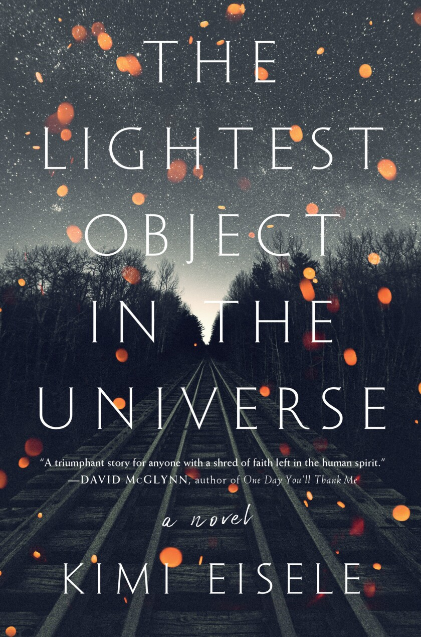 """This cover image released by Algonquin Books shows """"The Lightest Object in the Universe,"""" a novel by"""