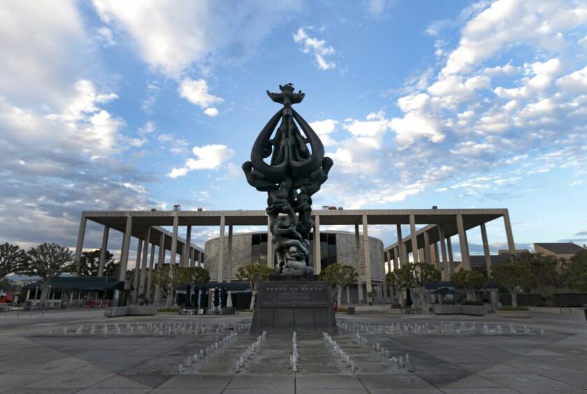 'Peace On Earth' sculpture, Music Center