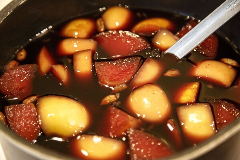 A pot of warm, spiced red wine, an Austrian Christmas tradition