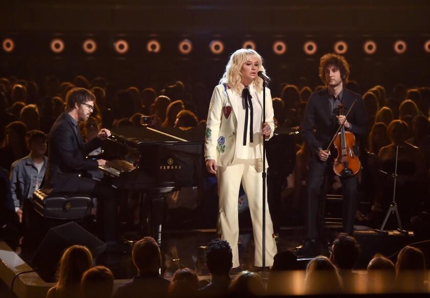 Kesha performs at the Billboard Music Awards on Sunday.