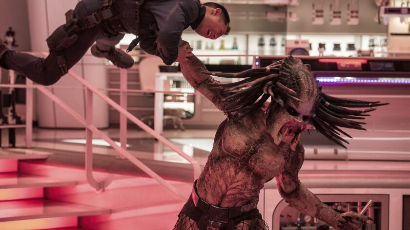 """This image released by 20th Century Fox shows a scene from """"The Predator."""" (Kimberley French/20th Ce"""