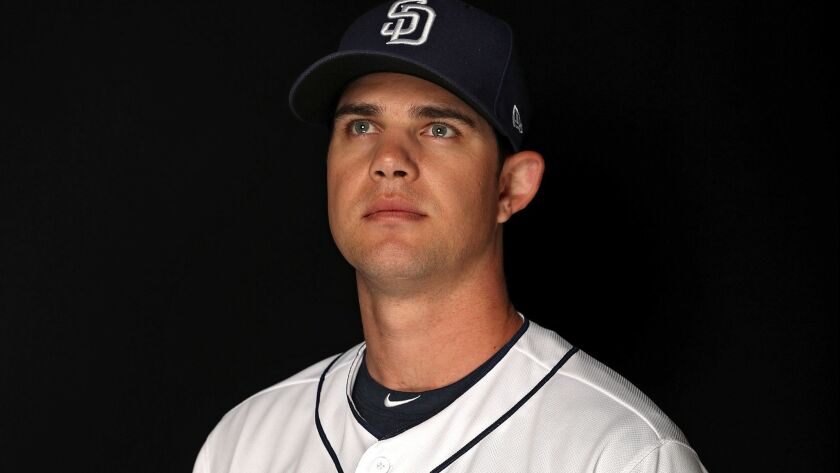 Right-hander Robert Stock is in Padres camp on a minor league deal.