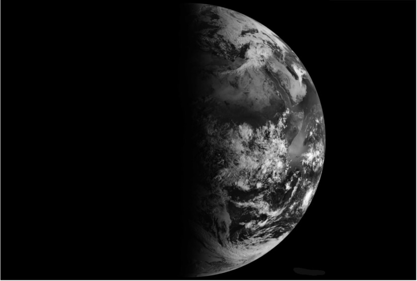 Satellite image of Earth on the March equinox.