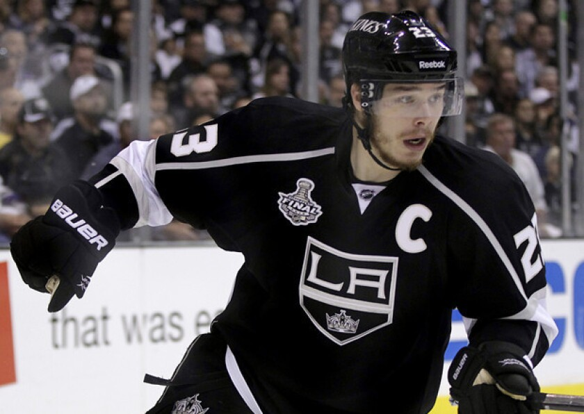 Dustin Brown's two goals propelled the Kings over the St. Louis Blues into the Stanley Cup Western Conference finals.
