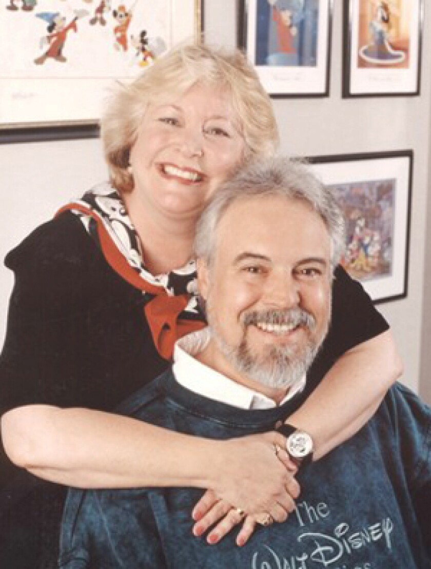 Wayne Allwine with his wife, Russi Taylor, the voice of Minnie Mouse. Allwine also was an Emmy Award-winning former sound effects editor and foley artist.