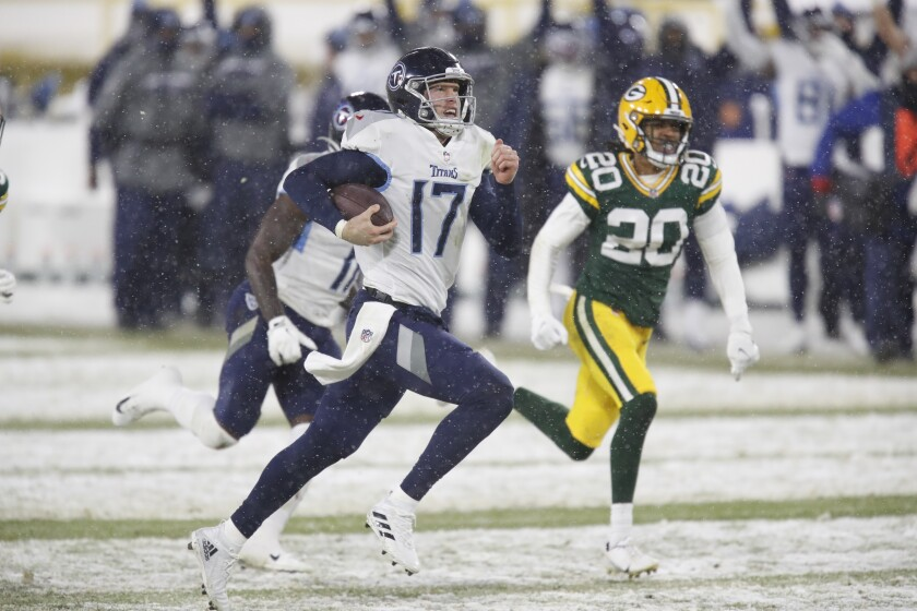 Titans' offense has rare off-night in 40-14 loss to Packers - The San Diego Union-Tribune