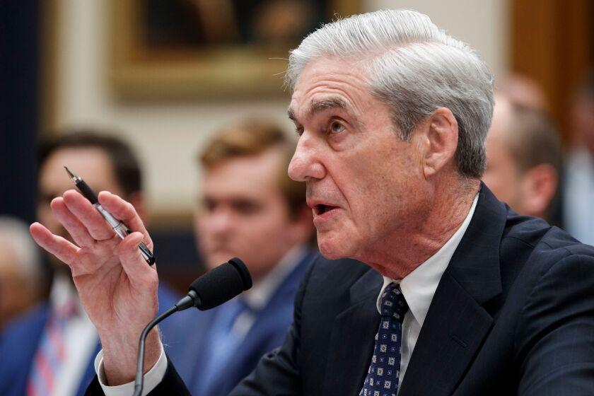 Robert Mueller testifies on July 24 before the House Intelligence Committee