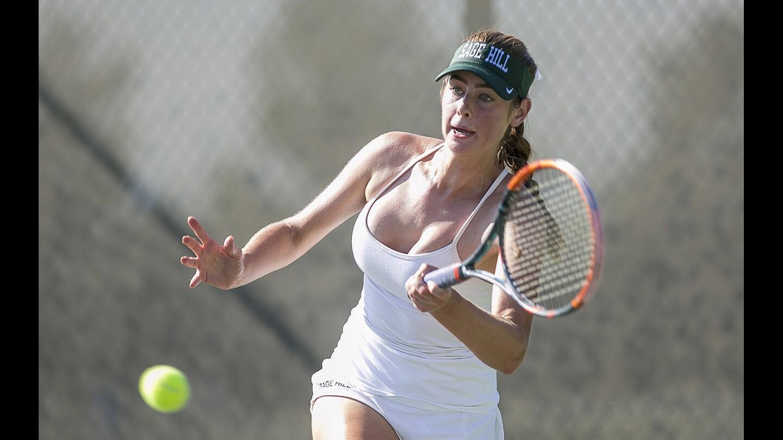 Photo Gallery: Sage Hill girls' tennis vs. Santa Margarita
