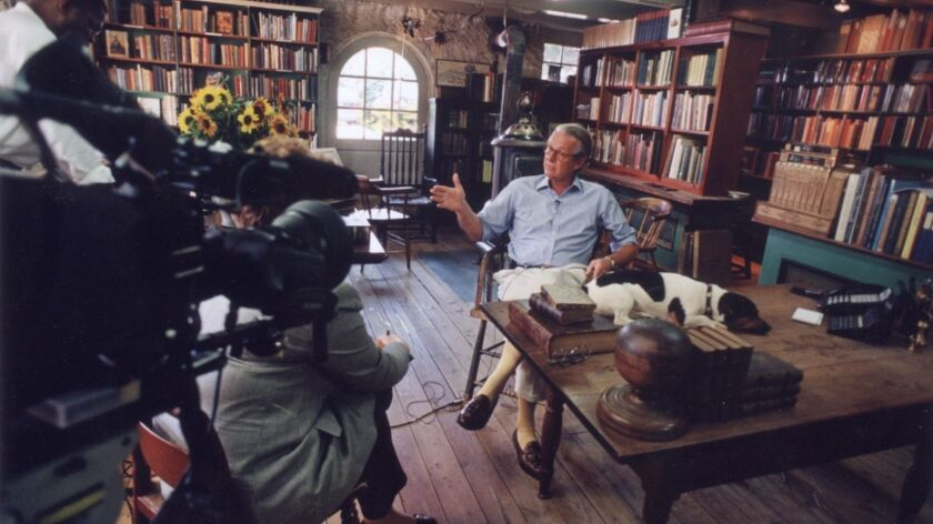 "Tom Baldwin, owner of Baldwin's Book Barn in West Chester, Pa., is interviewed for ""Book TV"" in 1998."