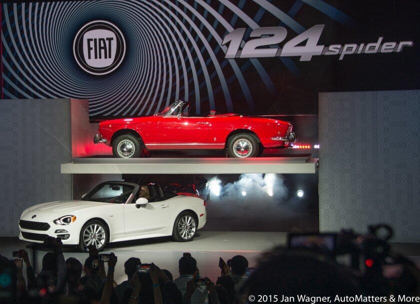 LA Auto Show press reveal of Fiat 124 Spider