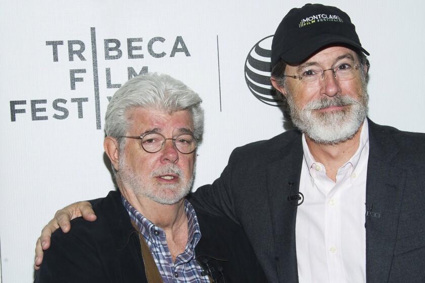 George Lucas, Stephen Colbert at Tribeca