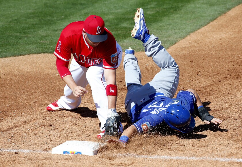 Angels and Dodgers play to a 13-13 tie