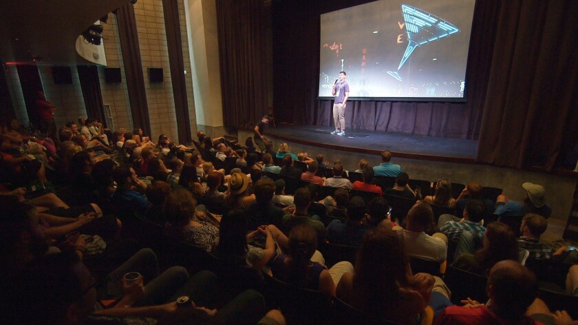 Las Vegas Film Festival programmer Max Allen introduces a movie during last year's celebration of cinema.