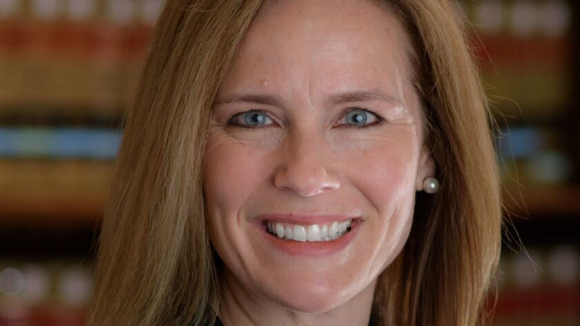 Amy Coney Barrett has been a federal judge on the bench of the 7th Circuit Court of Appeals for less than a year.