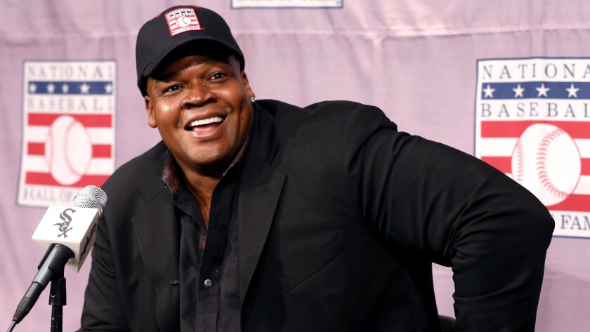 Former White Sox slugger and Hall of Famer Frank Thomas says Gabe Kapler 'could make it' as a manager but is better suited for the 'numbers game' of the front office.