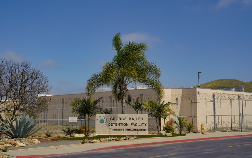 The George Bailey Detention Facility, the county's largest jail, where 46 tested positive for coronavirus