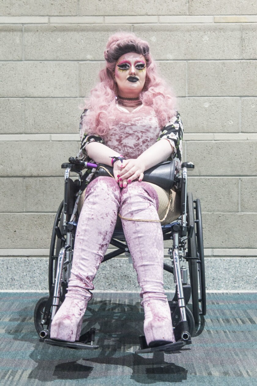 LOS ANGELES, CA. - May 11, 2018: Luna Moon poses for a portrait during RuPaul's DragCon LA at the L