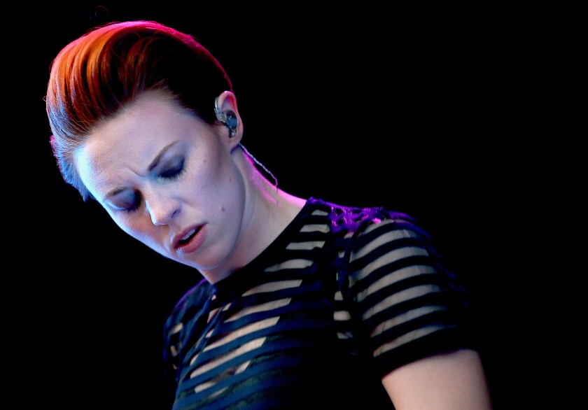 Elly Jackson fronts the English synthpop band La Roux.