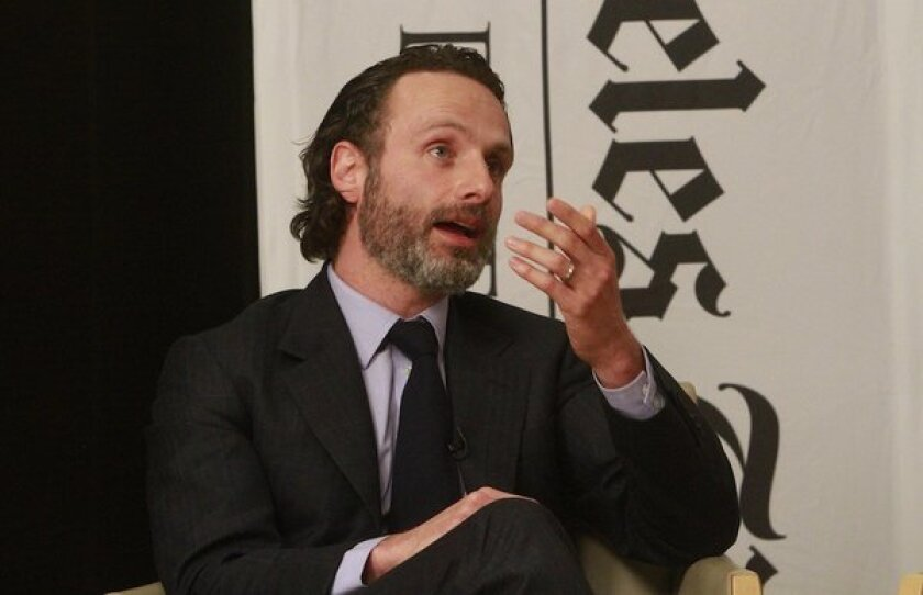 Andrew Lincoln talks drama at the Envelope Emmy Roundtable.