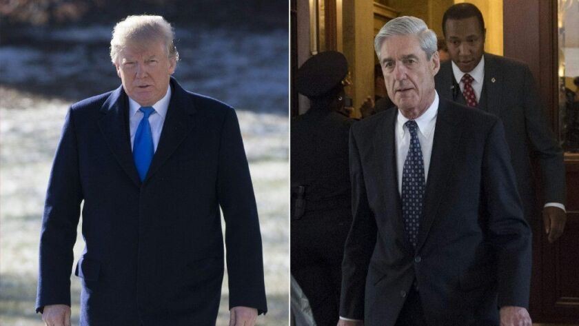 President Trump and special counsel Robert S. Mueller III.