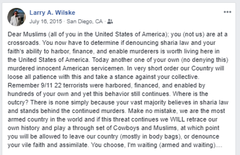 Wilske Facebook post