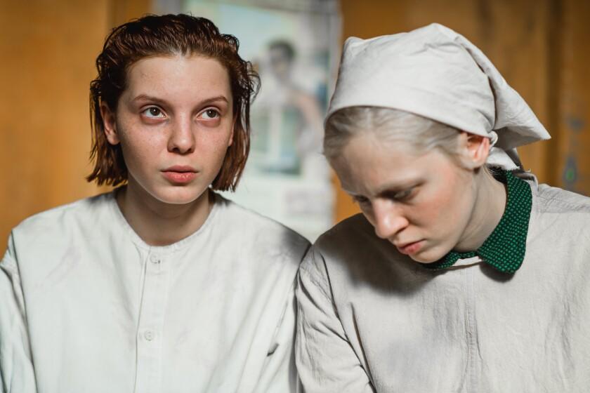 "Viktoria Miroshnichenko and Vasilisa Perelygina in a scene from the film ""Beanpole,"" courtesy Kino Lorber"