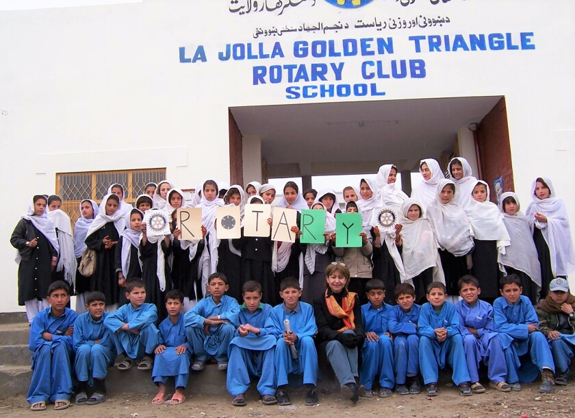 A La Jolla Rotary Club sponsors a school in Jalalabad, Afghanistan that educates boys and girls.