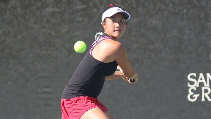 Irene Huang, Canyon Crest high school girls tennis