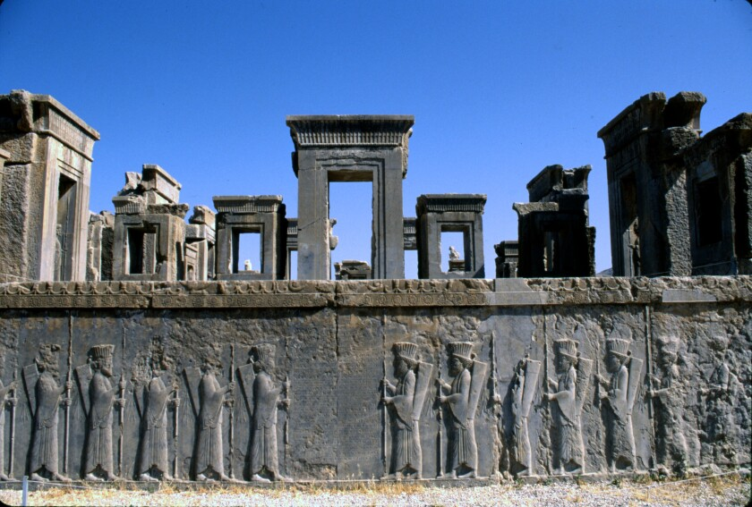 Persepolis, the Persian Empire's seat of power until Alexander the Great arrived in 330 BC