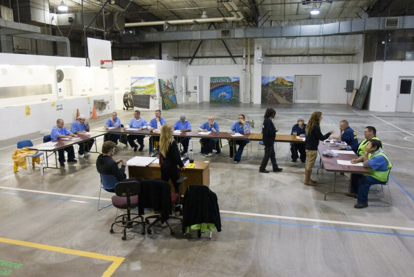Inside Donovan State Prison there is a new program exposing inmates to art by the name of Project Paint which teaches the basics of drawing and painting. Instructors work with inmates in the gymnasium.