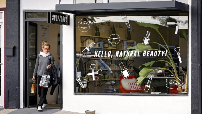 Shop Good, a new natural cosmetics store and spa, in North Park.