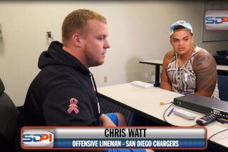 San Diego Chargers Chris Watt gives his advice