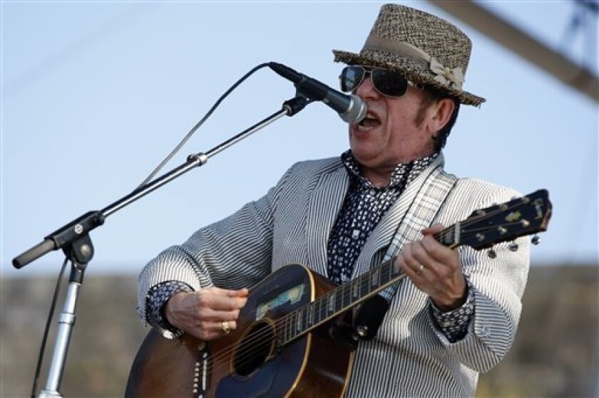 Elvis Costello and his dual-Attraction band, The Imposters, will open the 2012 Humphrey's Concerts by the Bay season on Shelter Island with a sold-out show on April 15. The Sept. 29 Humphrey's concert by Crosby, Stills & Nash is also sold-out. (AP Photo/Joe Giblin)