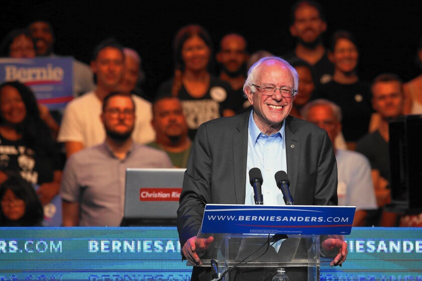 Vermont Sen. Bernie Sanders said last week he would end federal prohibition of marijuana if he were elected president. The move could give him a boost in some primary states expected to vote on legalization.