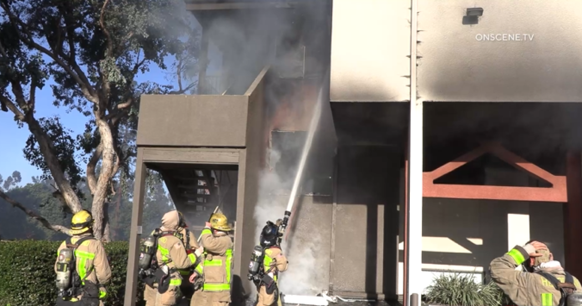 Fire causes $1.5M in damage to El Cajon apartments; two residents rescued