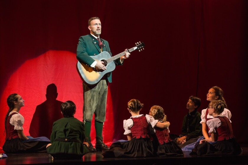 """Ben Davis and cast in """"The Sound of Music."""""""