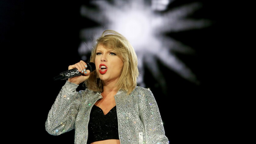 Taylor Swift, along with Ed Sheeran and Beyonce, lead in nominations for the 2015 MTV Video Music Awards. Above is Swift's performance at Rock in Rio in Las Vegas in May.