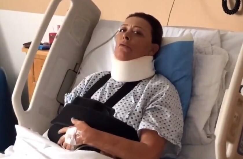 Sylvia Pasquel se fractura el brazo