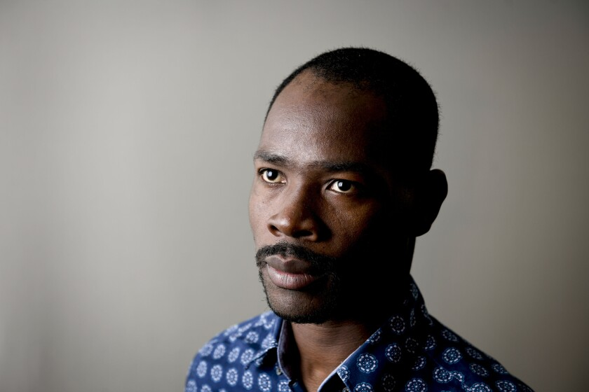 A portrait of Haitian asylee Wister Gaetan