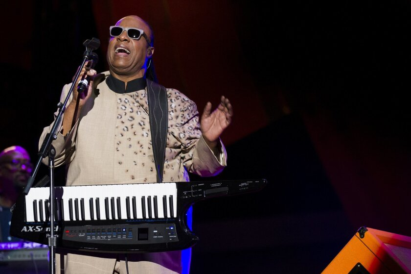 IMAGE DISTRIBUTED FOR UNITE4:GOOD - Stevie Wonder performs at the Global Citizen Festival supported by unite4:good and the PVBLIC Foundation in Central Park on Saturday, Sept. 28, 2013 in New York. (Photo by Charles Sykes/Invision for unite4:good/AP Images)
