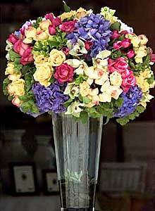 A floral arrangement by Saeed Babaeean.