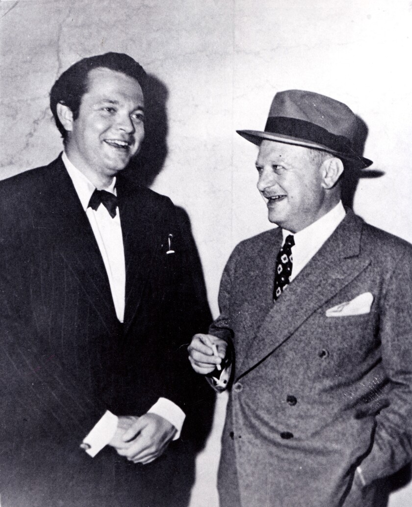 Herman Mankiewicz, right, and Orson Welles