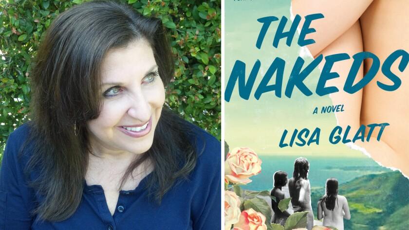 Author Lisa Glatt and her book 'The Nakeds.'