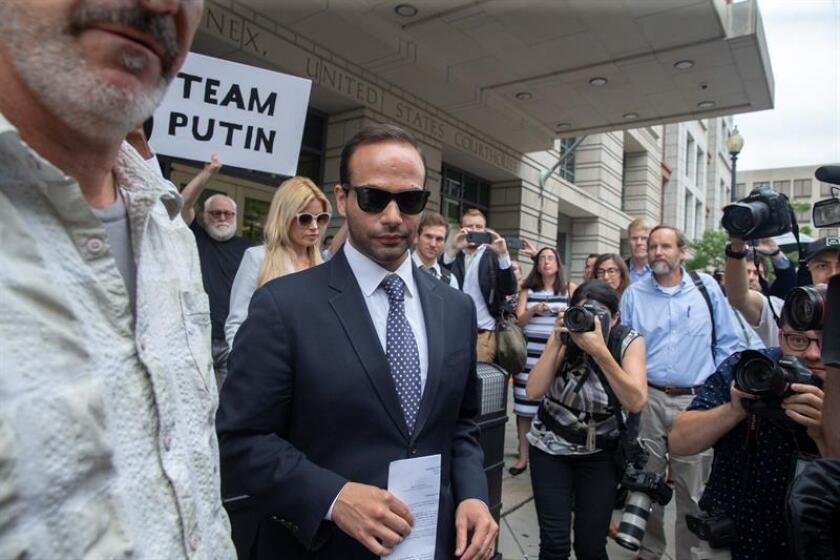 Simona Mangiante Papadopoulos and George Papadopoulos leave US District Court in Washington, DC, USA, 07 September 2018. EFE/EPA/FILE