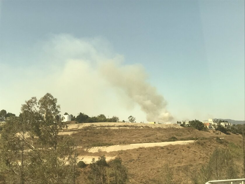 A small brush fire ignited in El Sereno late Friday morning.