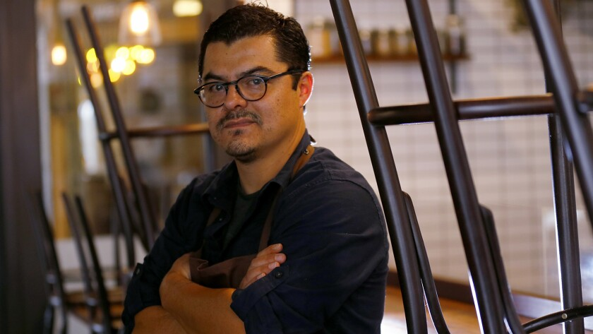 Chef Carlos Salgado of Taco Maria in Costa Mesa. Salgado signed on to be a culinary partner at the Ace Hotel in Palm Springs, where he's revamping the menus at the hotel's restaurant and bar.