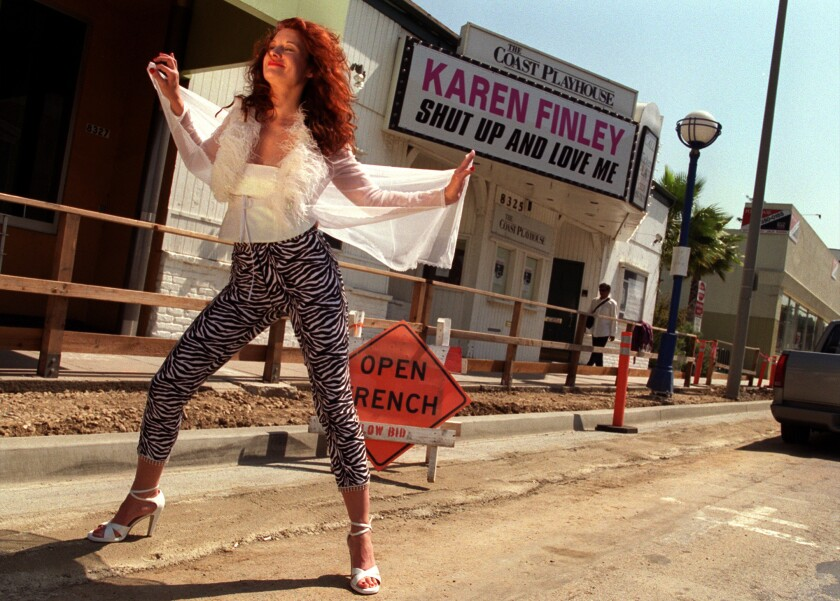 Karen Finley, photographed in 2000 in West Hollywood.